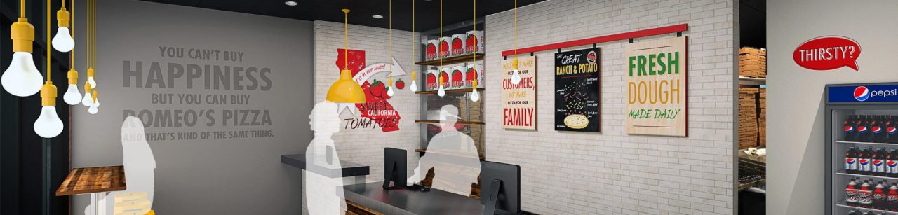 Romeo's Pizza Franchise Store Render