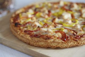 Romeo's Gluten Free Pizza with Chicken and Peppers