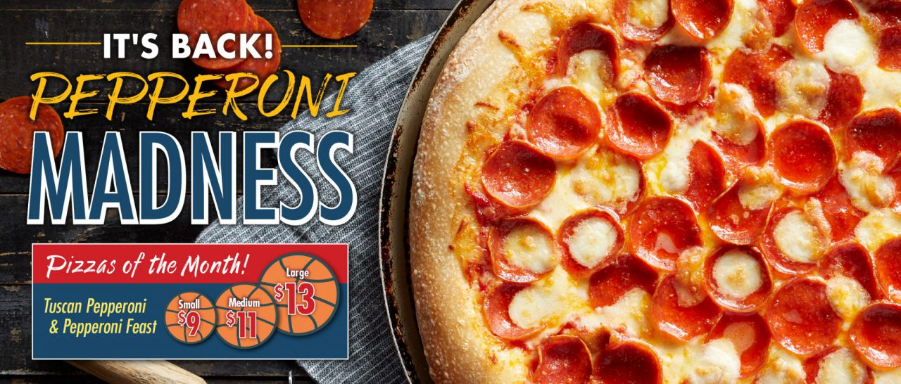 Romeo's Pepperoni Madness Pizza of the Month